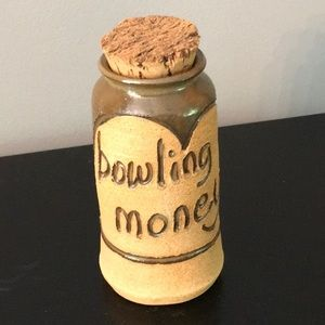 """Stone Container """"Bowling Money"""""""